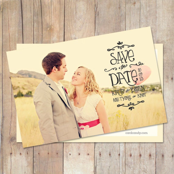 Save-The-Date Card, Save The Date Postcard, Save The Date Magnet, Custom Colors, Photo