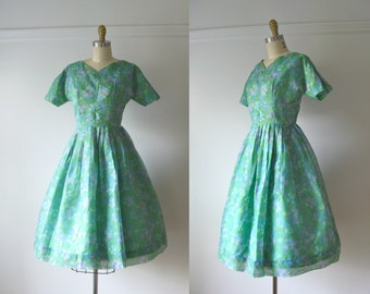 Bubble Up / vintage 1950s dress / 50s party dress
