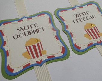 Custom Popcorn Buffet Labels for Wedding or Party - Made to Order
