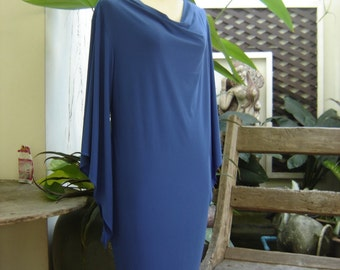 S-M Soft Spandex Kanya Collection Tunic - Royal Blue
