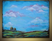 Landscape Painting original acrylic on canvas 20x16