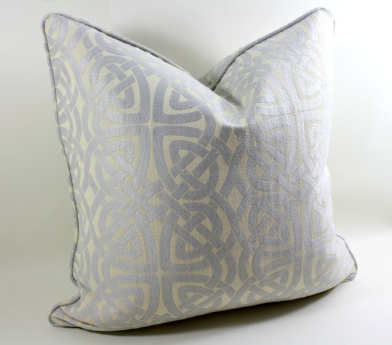 ON SALE Designer Pillow Cover Beacon Hill Pleated Iris in Ice, Decorative Pillow Cover, Accent Pillow, Throw Pillow, toss pillow