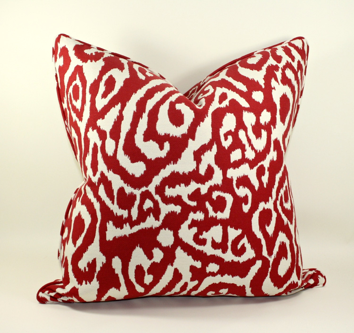 Animal Print Pillow Covers : Animal Print Pillow Cover in Red and White by trendypillows