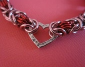 Filled with Love Byzantine Chain Maille Bracelet
