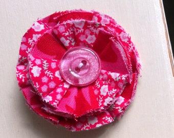 Cute Pink Flower Brooch
