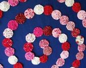 """9 Ft.Sweetheart Yo Yo Garland Fabric Party Celebration Swag Banner Photo Prop 1.5"""" Yo Yos"""