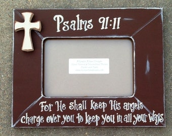 4x6 Frame with cross and favorite verse