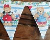 Teddy Bear Sunflower Bunting Garland Of Flag Fabric Banner 7 Ft