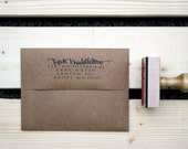 Custom Calligraphy Stamp with Ink Pad: Kate Middleton Style