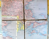 Map Coasters, Massachusetts, Natucket sound Martha's Vineyard