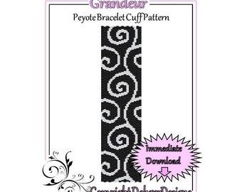 Bead Pattern Peyote(Bracelet Cuff)-Grandeur