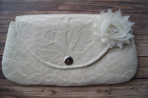 Lace Clutch - Bridesmaid Clutches - Pouch - Formal - Wedding - Boutique