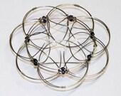 Wired Mandala Black Logical Meditation Toy