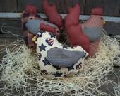 Primitive Chicken Ornies