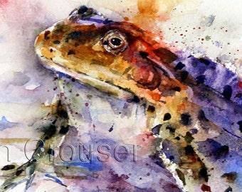 FROG Watercolor Print by Dean Crouser