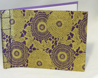Purple and gold 4x6 journal