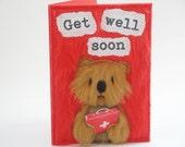 Handmade Get Well Soon card / Funny Get Well Soon card