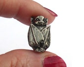Green Girl Studios Halloween Bat Bead Pewter