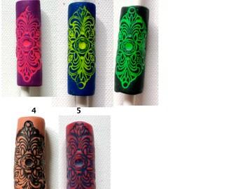 pick color: mandala dread bead tube