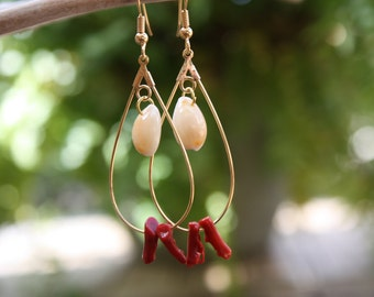 Hawaii Jewelry Sea Shell Earrings Seashell Earrings, Beach Jewelry Beach Shell Hawaiian Jewelry Earrings Ocean Jewelry Sea Shell Jewelry 004