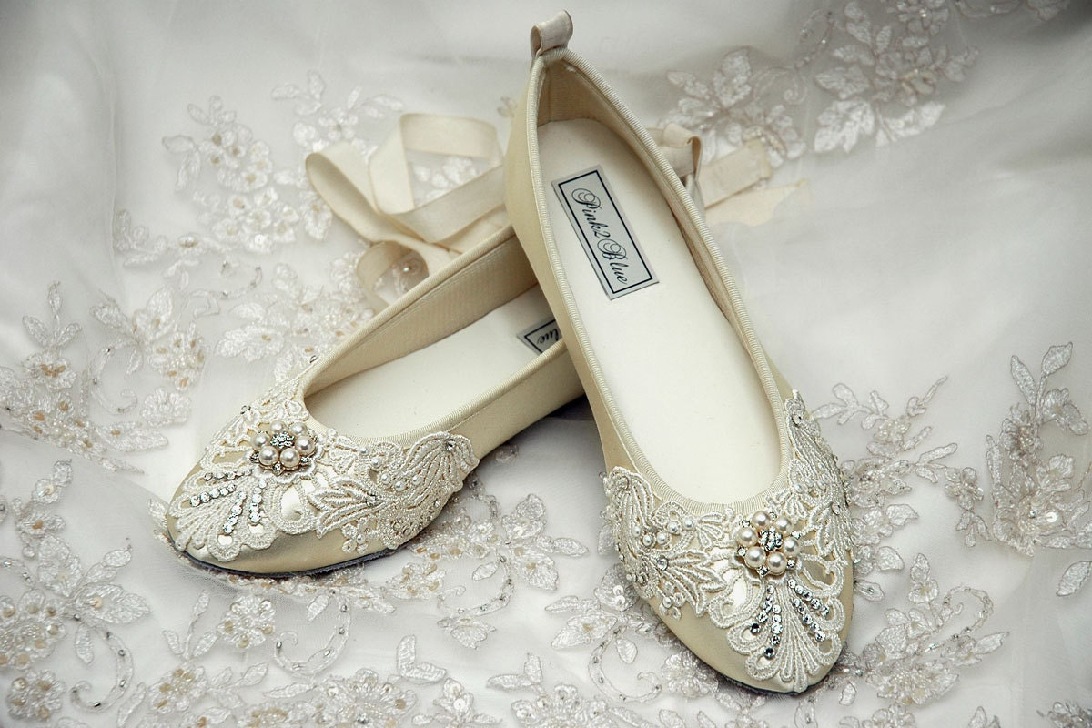 Wedding Shoes Womens Bridal Shoes Ballet Flats Womens Wedding