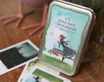 Korea DIY decoden Iron Boxed Cards Missma Card Set -Long Legs Uncle