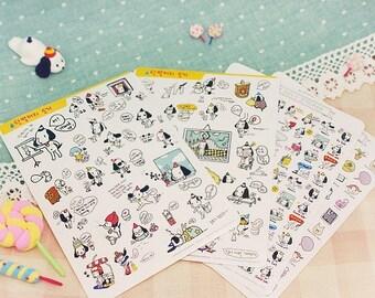 Korea Pretty Sticker Set - Deco Translucent Sticker Set-A Small White Dog