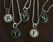 Keyboard Letter - steampunk necklace