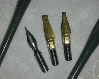 Calligraphy Pens & 3 Nibs Vintage Art Supplies NEW Vintage