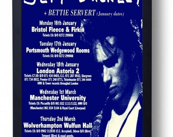 Jeff Buckley Framed Gig Poster Print