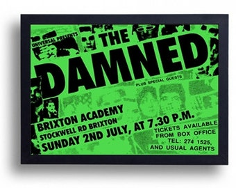 The Damned Framed Gig Poster Print