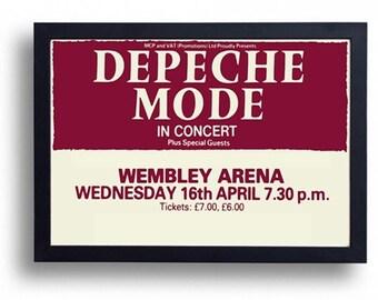 Depeche Mode Framed Gig Poster Print