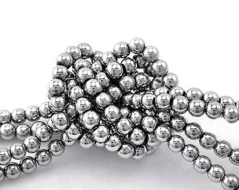 Hematite Gemstone Beads 4mm 1 Strand - BD173