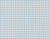 SALE! Tanya Whelan Fabric Petal Check in Blue One Yard Checked Quilting Cotton Fabric by the Yard