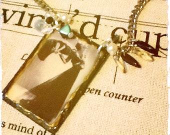 Deco Necklace - Beaded Necklace - Art Deco Cameo