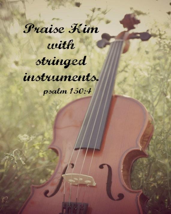 Items similar to Psalm 150 4 Print Scripture Art Music