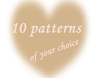 Crochet Knitting Sewing Patterns Offer Low Price Discount-Buy this listing and get 10 patterns from PatternsbyFaima shop