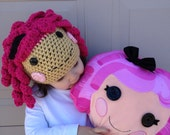 Lalaloopsy Inspired Crochet Hat Pattern..Permission to sell hat.
