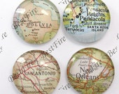 The 12mm,14mm,16mm,18mm,20mm,25mm Round Glass Cabochons Mix Map Cabochon,jewelry Cabochons finding beads,Glass Cabochons,World Map--07