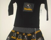 12-18m Steelers Twirl Skirt Set