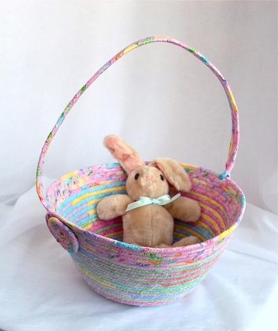 Handmade easter basket scrappy pink easter egg by - Custom made easter baskets ...