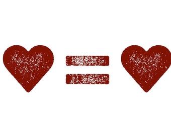 Love Equals Love Pride Equality Digital Download Design