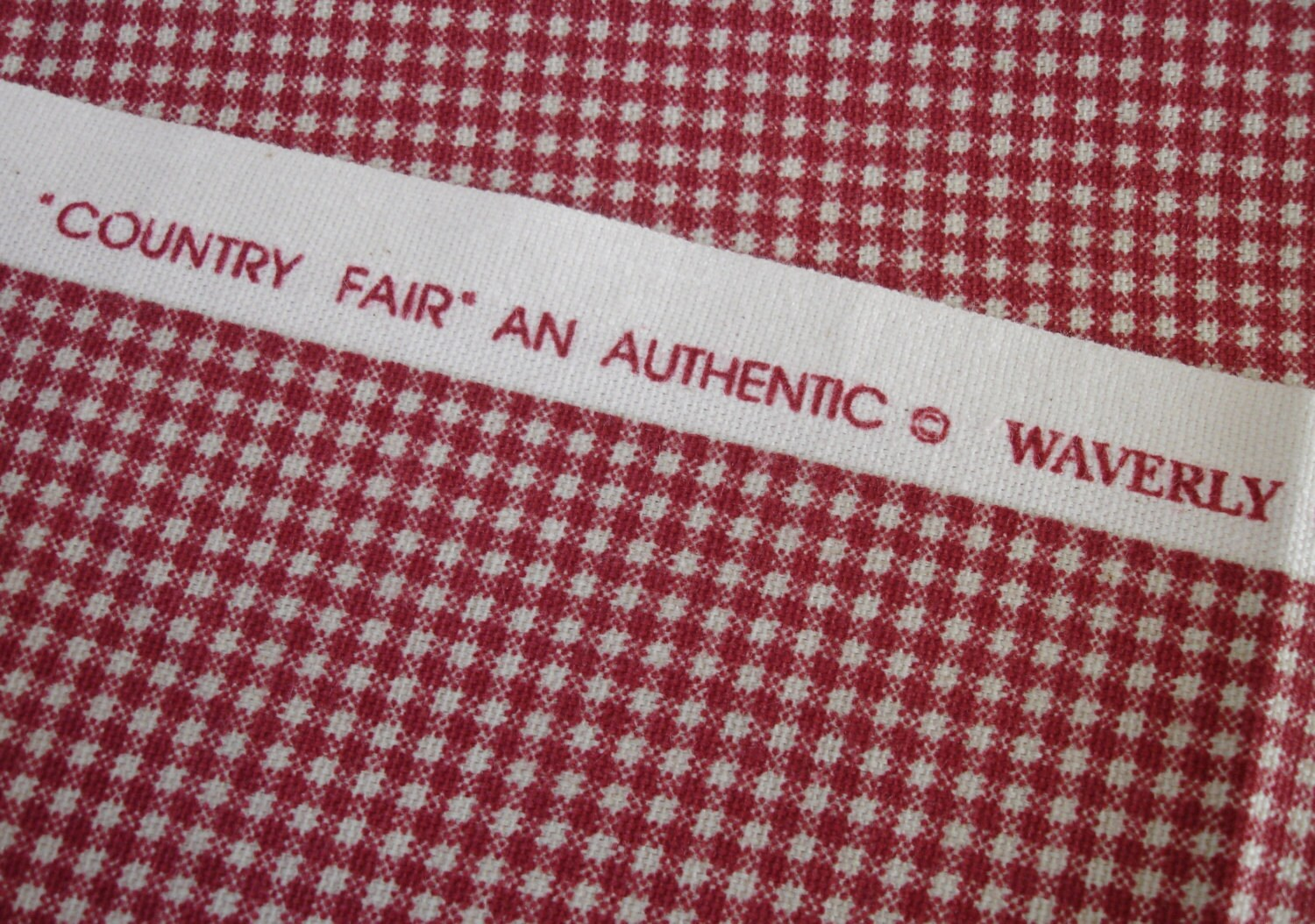 Waverly Fabric Country Fair Red Crimson Check 1 Yard Of Fabric
