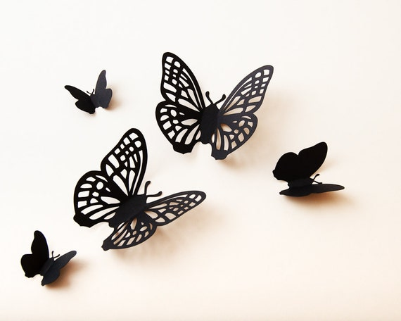 3d schmetterling wall art wand papier schmetterlinge. Black Bedroom Furniture Sets. Home Design Ideas