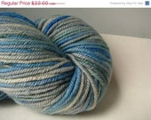 On Sale- 40% off- Blue Skies- Tough Love- Hand dyed yarn
