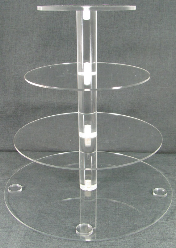 Four Tier Cupcake Stand Jusalpha 4 Tier Acrylic Glass