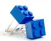 Blue Brick Cuff Links