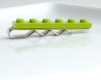 Novelty Tie Bar Lime Green Tie Clip for Weddings, Fun and Special Occasions - many more colours available
