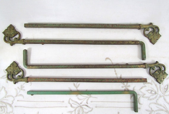 antique swing arm curtain rods