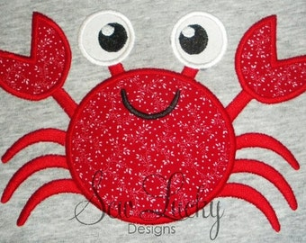 Crab applique design - machine embroidery design- Many formats - INSTANT DOWNLOAD